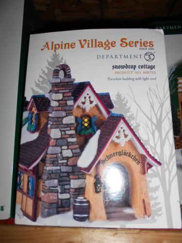DEPT 56 ALPINE Village SNOWDROP COTTAGE NIB *Still Sealed*