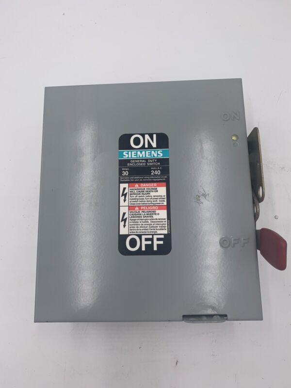 Siemens GF321N Enclosed Switch General Duty 30 Amp Type 1 Enclosure Three Phase