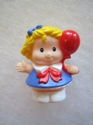 Fisher Price Little People SARAH GIRL BALLOON 4th of JULY USA CELEBRATION CIRCUS - Price Of Balloons