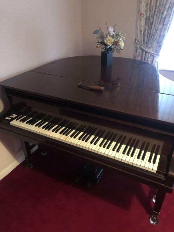 H. W. Meyer Schwerin Baby Grand Piano - Mahogany with Ivory Keys