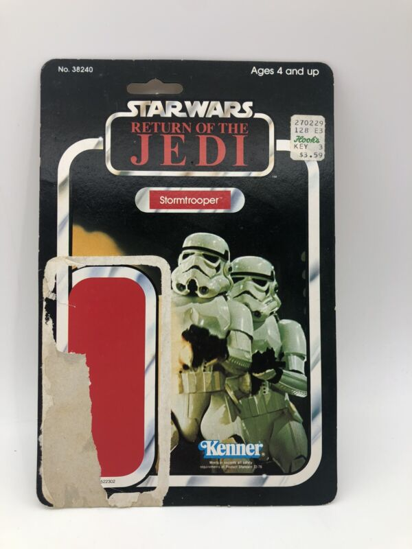 Star Wars Return Of The Jedi 1982 Stormtrooper Card Back 65 Back Good Condition
