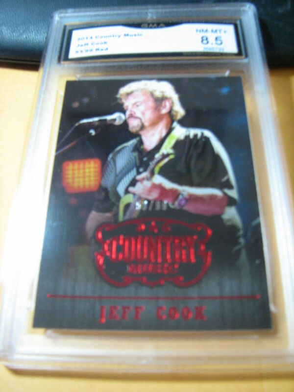 JEFF COOK 2014 COUNTRY MUSIC RED # 53/99 GRADED 8.5 L@@@K