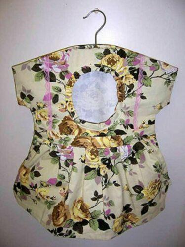 "Vintage Adorable Cotton Dress Clothes Pin Bag Holder - New 20"" x 19"""