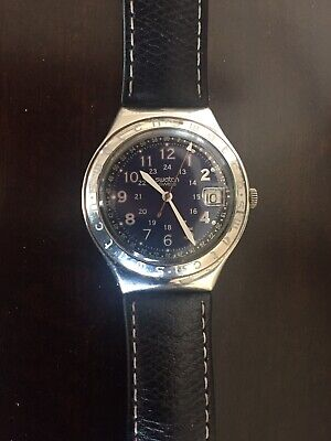 SWATCH  IRONY HAPPY JOE Mens BLUE YGS400 Stainless Steel Collectors Watch UNISEX
