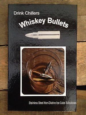Whiskey Bullets Stainless Steel Stones Ice Cube Chiller Set 4 Bar Gift Groomsmen