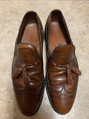 Allen Edmonds Berwick Brown Leather Wingtip Tassel Loafer Men's Shoes Size 7C