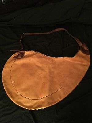 Henry Cuir caramel distress leather extra extra large hobo sac purse cross body  Extra Large Caramel