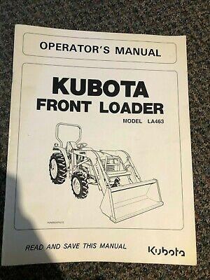 Kubota Front Loader La463 Operators Manual