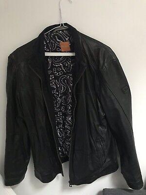 Hugo Boss Leather Black Jacket XL