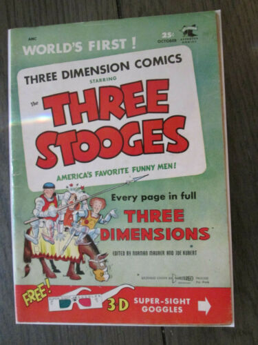 THREE STOOGES 3-D St. John Comics Free Shipping!