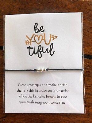 BeYOUtiful Motivational GIFT String Friendship Wish - Motivational Bracelets