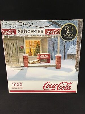 Brand New Sealed Springbok Coca Cola The Corner Store 1000 Piece Jigsaw Puzzle