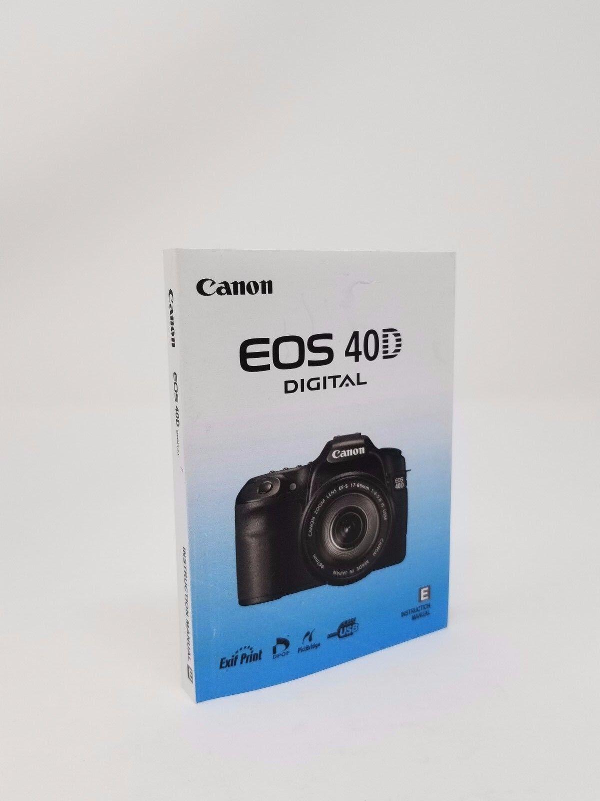 canon eos 40d genuine instruction owners manual book original new rh bayshop com Canon EOS 40D DSLR Canon EOS 40D DSLR