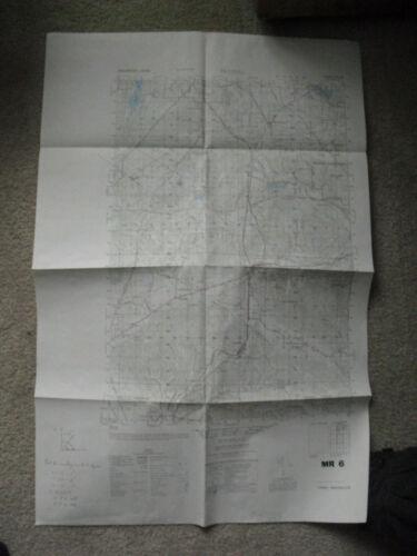 "Vintage 1951 US Army Map Service Tenino Washington Map MR-6 32x21"""