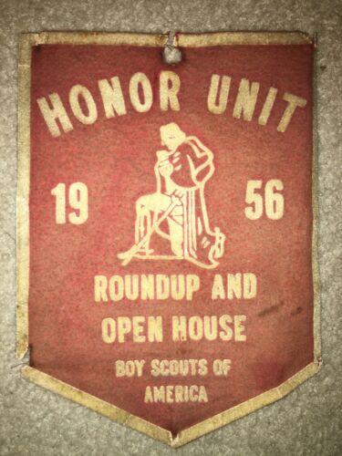 Boy Scout 1956 Honor Unit Roundup Open House George Washington Felt Flag Banner