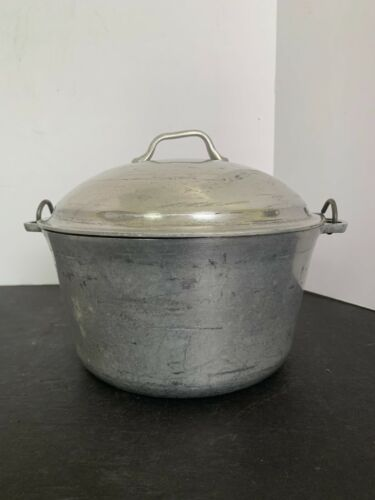 Vintage Super Maid Cookware Aluminum Bail Handle Pot with Lid