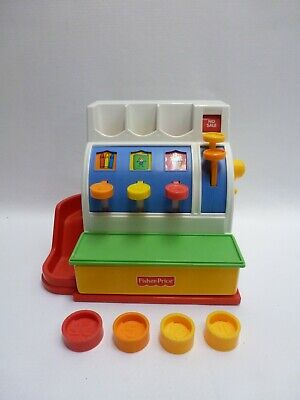 Fisher Price Toddler Cash Register With 4 Coins 1994