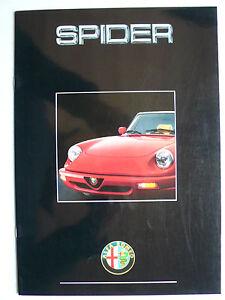 Prospekt Alfa Romeo Spider 2.0 (ohne Heckspoiler), 3.1991, 20 Seiten, Hochglanz