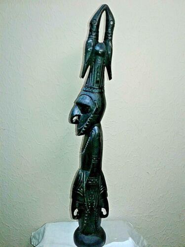 Vintage Papua New Guinea Hand-Carved Tribal Sepik Statue (Murik Lakes region)
