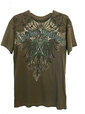 Xtreme Couture Men's Tee Shirt Size Medium - Eagle Emblems Metal Riveted Shield for sale  Dawson