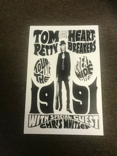 Tom Petty & The Heartbreakers 1991 Great Wide Open Tour Promo Concert Poster