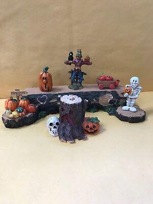 Halloween Dekor / Mengenangebot 7 Harz Halloween Motto Display