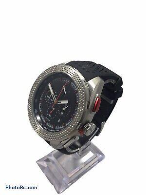 Men's Puma Octane Black Silicone Strap Chronograph Watch PU103251003