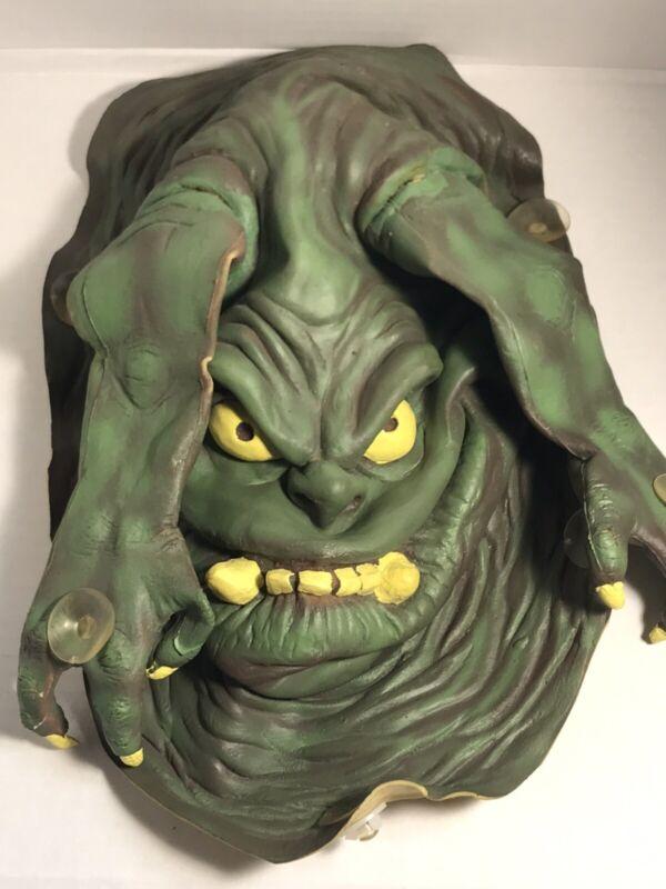 Vtg Halloween Monster Window Cling Green Ghoul Slimer 1517