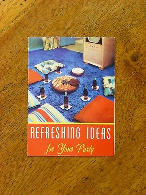 Refreshing Ideas for Your Party - 1950s Coca-Cola leaflet / brochure - 1950s Party Ideas
