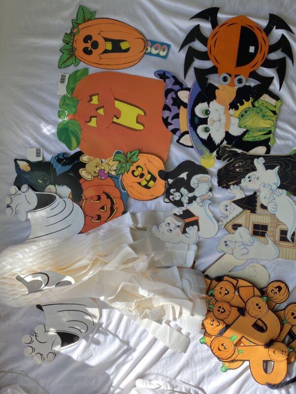 Halloween Eureka Beistle Cutout Diecut Decoration Lot!