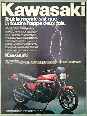 1981 Vintage PAPER PRINT AD KAWASAKI GPZ 1100 HARLEY-DAVIDSON STURGIS moto
