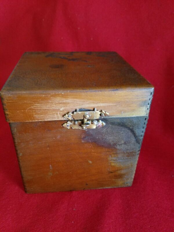 Antique Lipton Tin Tea Box Planter wood With Paper Label English