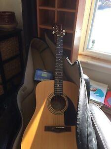 Fender guitar with gig bag