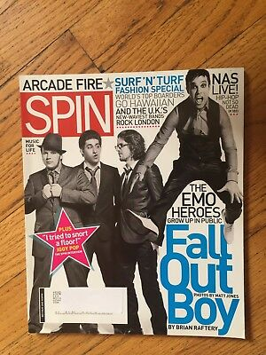 Spin Magazine March 2007 Fall Out Boy Iggy Pop Surf n Turf EMO Heroes NAS Live ()
