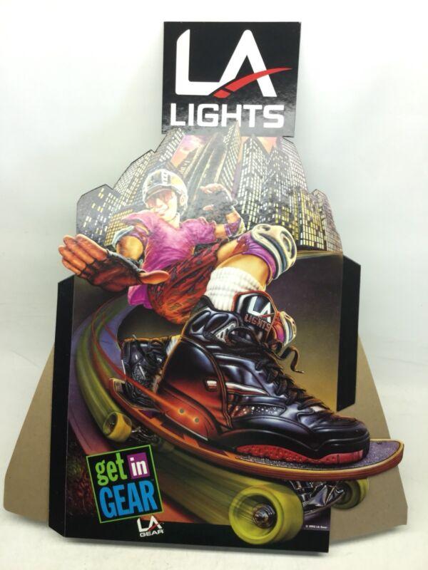 1992 LA Gear LA Lights Light-Up Cardboard Stand Up Sneaker Display Ad