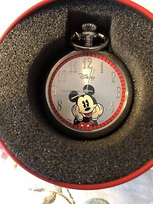 Mickey Mouse Pocket Watch 2007, NEW With Tin Box. Needs New Battery.