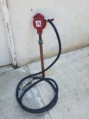 Fill-Rite Cast Iron Reversible Action Rotary Hand Drum Pump W/Manual Fuel Nozzle