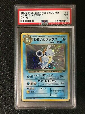 PSA 7 NM Dark Blastoise 9 Rocket Japanese Holo Pokemon Card