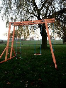 New Wooden Monkey Bars - Climbing Frame, Wooden Swings ,  FREEE DELIVERY