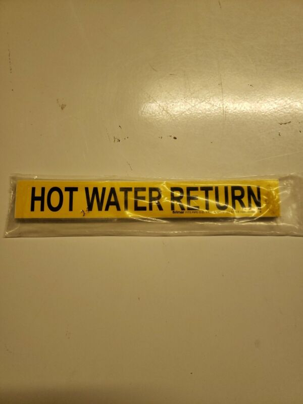 Hot Water Return Pipe Markers