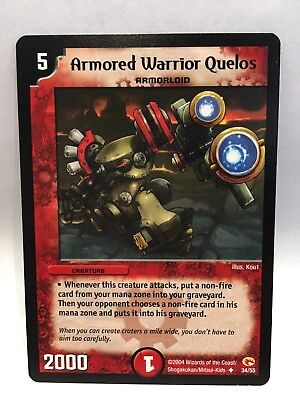 Armored Warrior Quelos (34/55) | Duel Masters Trading Card Game Single Card