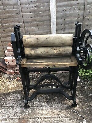 Antique Mangle Architectural Salvage Garden Display