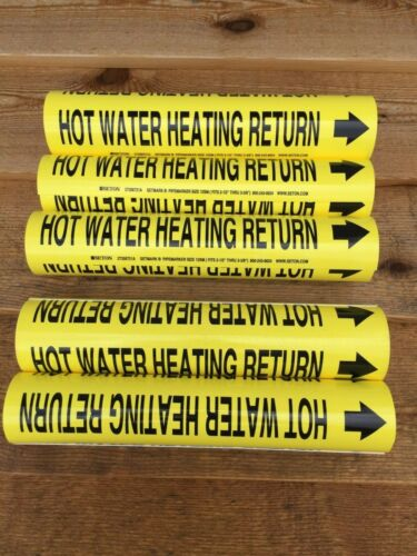 "LOT of 5 SETMARK Snap Around 2-1/2"" thru 3 3/8"" Hot Water heating Return  P"
