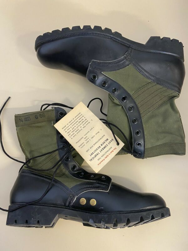 UNISSUED Vietnam War 1966 US GI Jungle Combat  Boots 11 N Waffle sole RoSearch