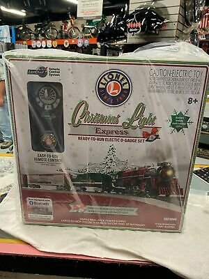Lionel Train Set Christmas Light Expres REMOTE 0 Gauge Lion Chief Blue Tooth NEW