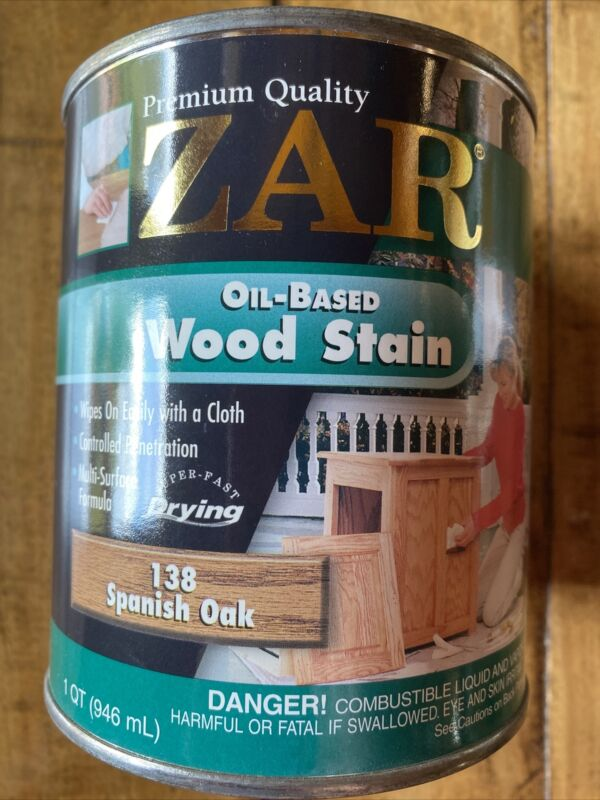 Quart Can ZAR 138 SPANISH OAK Oil Based Interior Wood Stain 13812 (Discontinued)