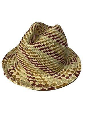 Kangol Straw Trilby Fedora Straw Fedora 100% Authentic Classic Hat Cap Size -