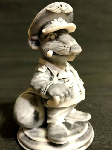 Rat Nazi military Warlord army Colonel marble chips Figurine Souvenirs