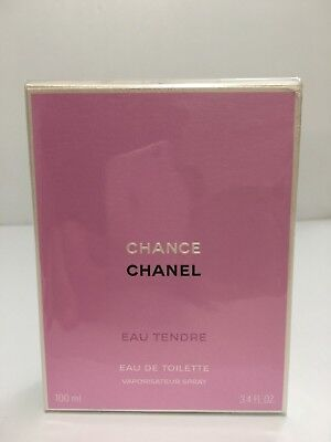 CHANEL CHANCE EAU TENDRE PERFUME FOR WOMEN SPRAY 3.4 oz 100 ml SEALED IN BOX