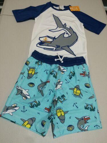 NWT Gymboree boy rash guard shark Set 2T 3T 4T 5/6,7/8,10/12 UPF 50+